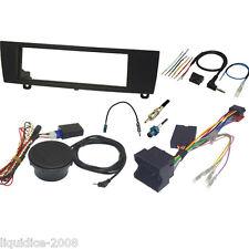 FK-118-PDC BMW 1 SERIES E88 2004 to 2010 BLACK SINGLE DIN FASCIA & STALK KIT