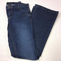 Calvin Klein Jeans Size 6 Dark Wash Slim Skinny Flare Womans 28 X 32 Inseam