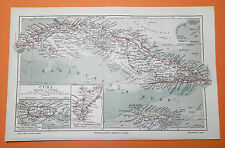Cuba cuba la habana jamaica puerto rico mapa 1905 Map Santiago de Cuba