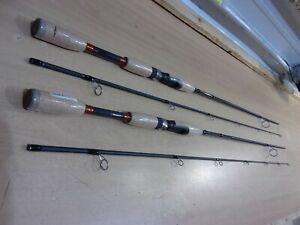 2 PFLUEGER MONARCH SPINNING RODS 6 foot 6 inch length  Medium power