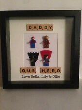 Fathers Day Gift - Superhero Frame. Avengers Spiderman Batman Iron Man Superman