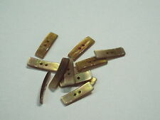 10pc 26mm Beige off white with MOP finish Toggle Button Ideal for Knitwear 2443