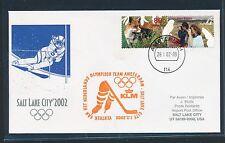 97713) KLM ab Amsterdam 1.2.2002, Olympiade SF to Salt Lake City, SoU