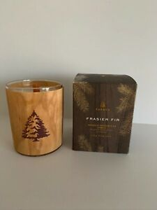 LTD ED Thymes Frasier Fir Holiday Wood Wick Candle NEW in box 9.5 Oz