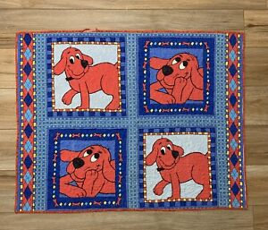 Clifford The Big Red Dog Crib toddler bed Quilt Blanket Handmade Red & Blue