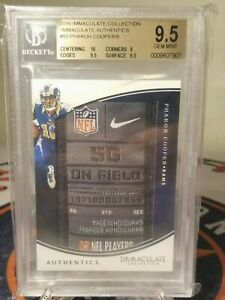 2016 IMMACULATE AUTHENTIC PLAYER WORN PATCH Pharoh Cooper 2/5 L.A Rams BGS 9.5