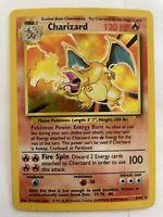 Charizard 4/102 Base Set Unlimited 1999 Holo Rare WOTC Pokemon