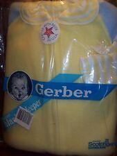 BABY BOYS GERBER Blanket Sleeper / Pajamas - Size 6 MONTHS - NEW - YELLOW/BLUE