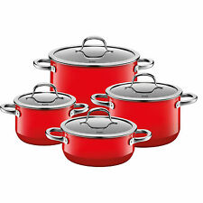 Silit Topf-Set 4-teilig Passion Red Made in Germany induktionsgeeignet