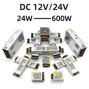 Ultra dünn Spannungsumwandler 220V bis 12V/24V Transformator 24W 60W 100W 600W