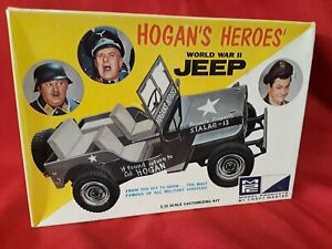 HOGAN'S HEROES WORLD WAR II JEEP 1968 MPC BUILT-UP WITH BOX AND INSTRUCTIONS