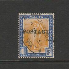 Malta 1926 Opt POSTAGE 5/- Used SG 155