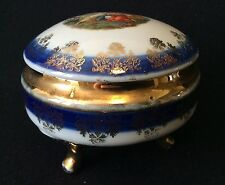 Bonbonnière tripode en porcelaine allemande à décor galant Deutschland