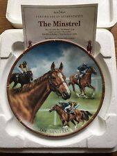 RACEHORSE PLATE THE MINSTREL DANBURY MINT ROYAL WORCESTER CERT BOXED