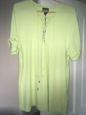 Just Cavalli Womens Green Lace Up T-shirt, RRP £120