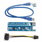 USB 3.0 PCI-E Express 1Xto16X Adaptador de tarjeta Riser de extensión SAjgvhgv
