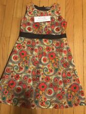 ATUN Girls Embroidered Floral Navy 5 6 Dress BNWT