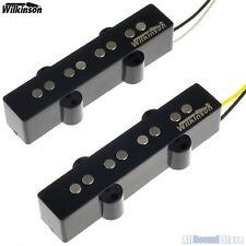 NEW Wilkinson Premium WBJ AlNiCo V Neck & Bridge Set Pickups for Jazz Bass JB