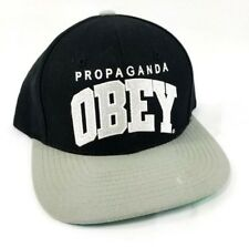 OBEY Propaganda Obey Hat Snap-back Cap Black/Gray/Green Adjustable Size