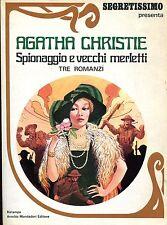 Agatha Christie SPIONAGGIO E VECCHI MERLETTI 3 ROMANZI