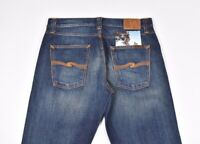 Nudie Jeans Eddie Costante Whistle Blu Uomo in Jeans Taglia: 34/32