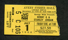Original 1988 Kenny G Stanley Jordan concert ticket stub New York Lincoln Center