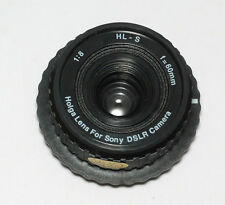 Holga 60mm PLASTICA OBIETTIVO HL-S per Sony Alpha/Minolta baionetta (Nuovo/Scatola Originale)