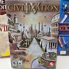 Computer Games Pc Lot 5 Pc Sid Meier's Civilization Iv Conquest- Warlords B.t.s