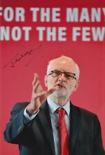 More details for jeremy corbyn hand signed 12x8 photo uk politics autograph
