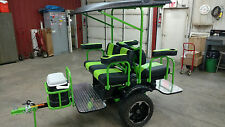 4 passenger shuttle limo Golf Cart trailer  pull behind Tag-a-long