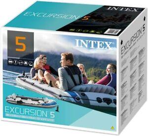 🛶 Intex Excursion Inflatable Boat Dingy Set + Oars & Pump 5 Person ⭐️