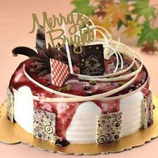 Feliz Navidad torta Toppers Set fiesta de cumpleaños suministros de decoración