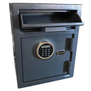 Hollon DP450LK Drop Slot Safe, Two User Electronic, Override Keys