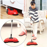 Household Spin Hand Push Sweeper Broom Floor Dust Cleaning Mop No Electricity