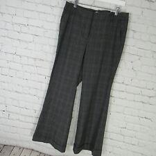 Ann Taylor Loft Pants Womens 10 Petite Gray Plaid Tartan Kate Flare