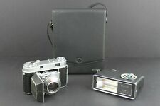 Kodak Retina IIa 35mm Film Camera with Vivitar 180 Flash & Case Made in Germany