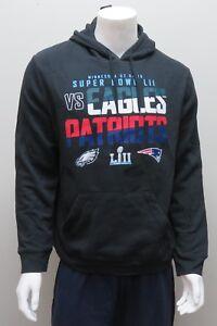 SUPER BOWL LII Philadelphia Eagles VS NE Patriots Black Sweatshirt NWT
