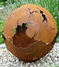 Riss Kugel 50cm Ø Edelrost Rost Gartendeko Garten Feuerschale Metall Feuerkugel