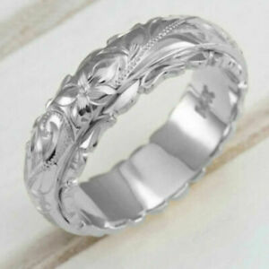Women Engagement 3D Carved Rose Rings Romance Ladies Wedding Jewelry Charm Ring