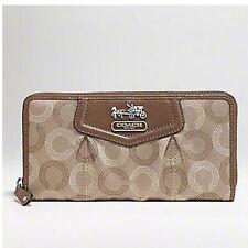 NWT COACH Madison Dotted Zip Around Wallet 44365 - Khaki/Mahogany