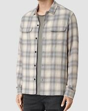 AllSaints Men's Hallek Check Shirt - Light Grey - M