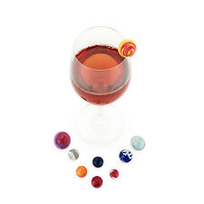 True Fabrications TrueZoo Planet Wine Glass Charms / Drink Markers - Set of 9