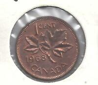 1968 Canadian Penny