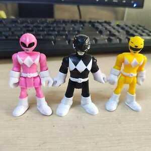 Lot of 3pcs Fisher Price Imaginext Power Rangers Pink Yellow Black Ranger