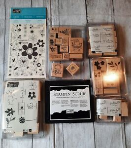 Stampin' Up! Large Lot of 2004-07 Stamps Holiday Thanks Best Blossoms Warm Words