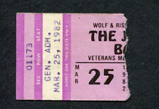 Original and Rare 1982 U2 J. Geils Band Concert Ticket Stub October Tour Phoenix