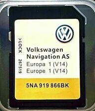 NEU VW Discover Media Navigation AS V14 Karte UK Europa 2021/22 Nav SD Card 32GB