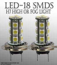JDM H7 18 SMDs LED Super White x2pcs High Beam Light Bulbs Same Day DeliverJ6935