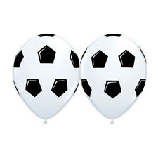 Party Supplies Birthday Boys Decoration Soccer Ball Black on White Balloons Pk10