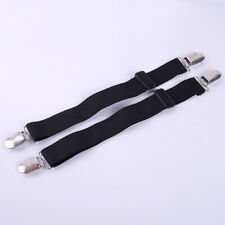 Hot Adjustable Motorcycle Bicycle Leg Boot Straps Stirrup Pants Clips E7CX